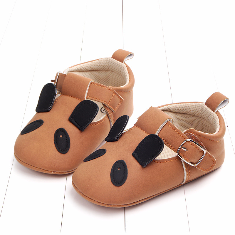 Baby First Walkers Matte leather Shoes for Baby Girl Boy Cartoon Animal Newborn Slippers Footwear Booties Kids Gift Child Shoes (37)