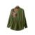 2017 Floral Bordado vuelo chaqueta de bombardero Militar mujeres básica abrigos de manga larga Remache punky ocasional outwear plus size