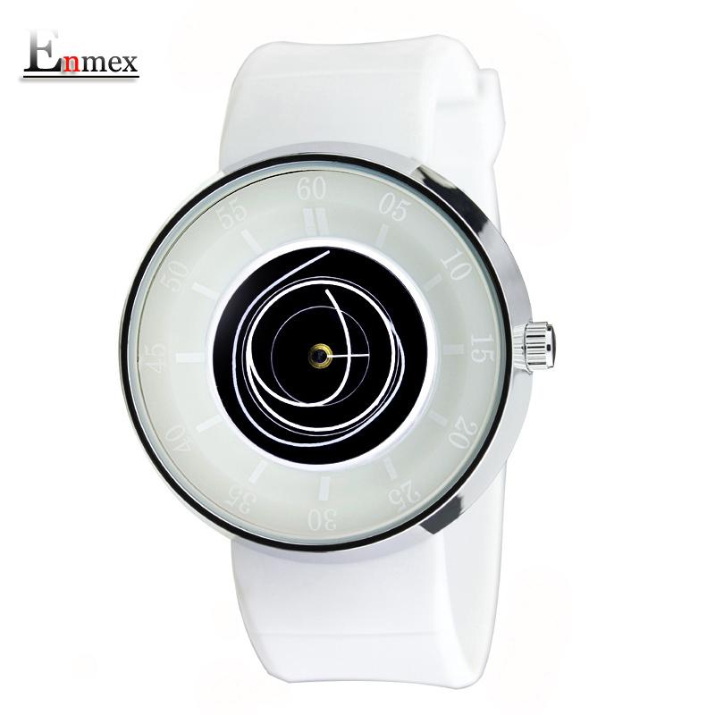 Prix pour 2016 hommes de cadeau enmex hommes femmes vol créative conception montre-bracelet angle visage bleu montre de sport mode casual montres à quartz