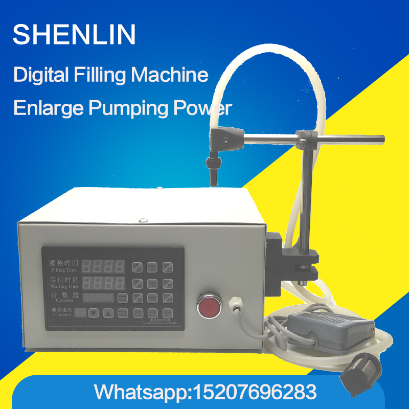 Digital filling machine electric filler bottle filling machinery liquid direct drawing filler water bottling equipment 110V/220V water valve for liquid filling machine spare part of pneumatic filler t part of food fill equipment filling nozzle device ss304