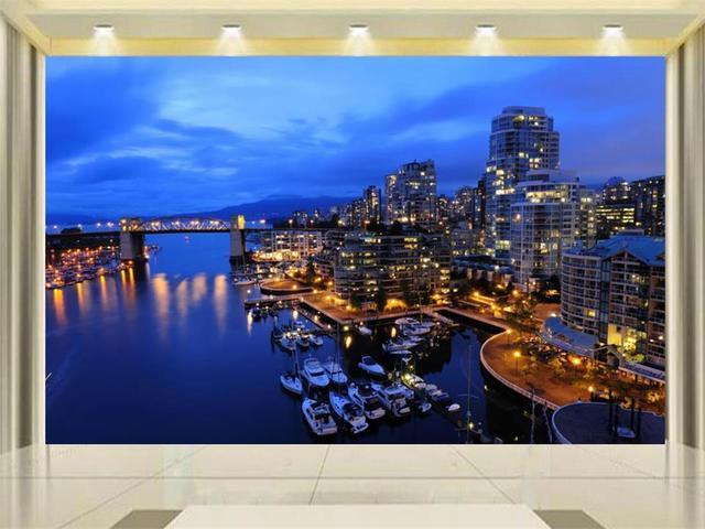 D behang custom kamer foto behang muurschildering woonkamer zee