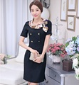 New Elegant Black Professional Formal OL Styles Slim Fashion Ladies Dresses Work Wear Female Casual Tops Dress Vestidos Clothes