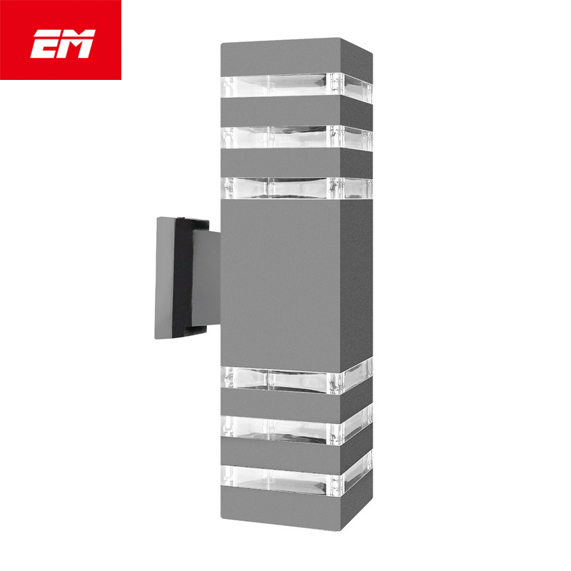 Modern Up Down Wall Lamp Aluminum Cuboid LED Wall Light Fixtures Dual Head Wall Lamp Outdoor Lighting E27 BulbAC 85-240V IP65 black led wall light waterproof ip65 stainless steel up down gu10 double wall lamp indoor outdoor wall lamp ac 85 265v