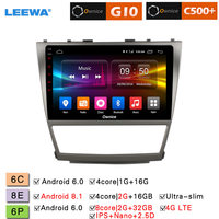LEEWA 10.12.5D Nano IPS Screen Android 8.1 Octa Core/DDR3 2G/32G/4G LTE Car Media Player For Toyota Camry 07 11/13 (Camry v40)