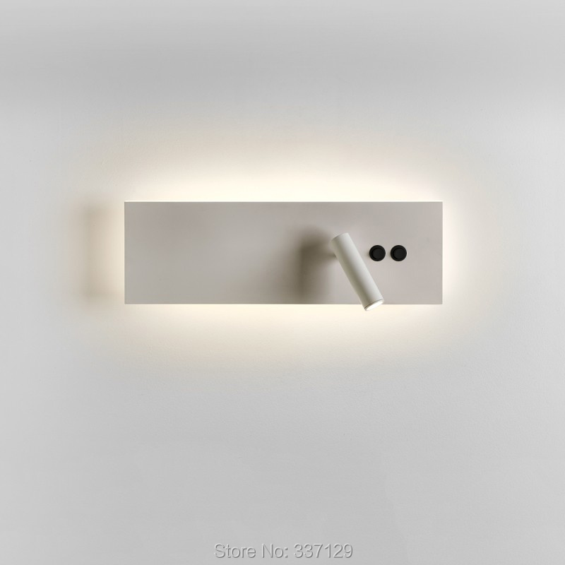 Edge Reader LED Wall Fixture Main Light Integrated with Reading Light Matte White or Black Horizontally or Vertically Mounted reader self efficacy and reading instruction