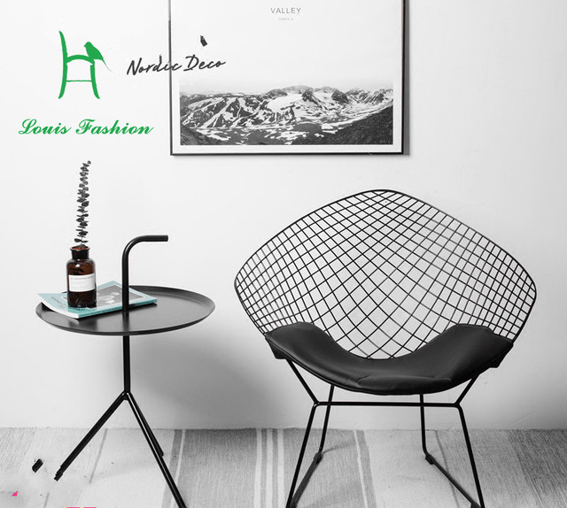 louis fashion hollow diamond wire chair modern minimalist creative