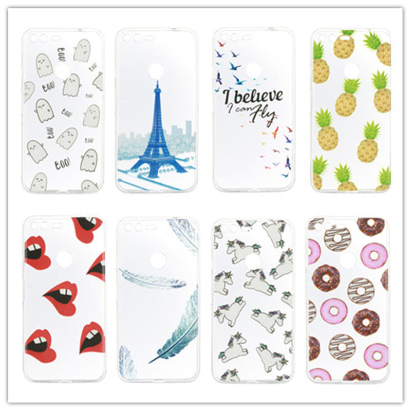 12 Styles Silicone Case For Google Pixel 5.0 Inch Cover TPU Protector Mobile Phone Cases For Nexus Google Pixel XL Skin Shell