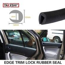 12x11mm Black Edge Seal 472″ 1200cm RV Lock Trim Rubber pillar Car Noise Control Window Door Boot Protector Guard Strip #61