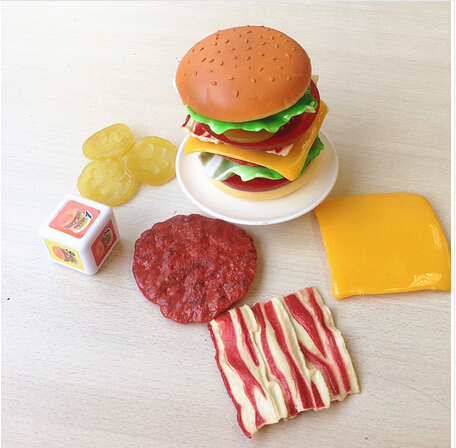 Children toy hamburger pretend play baby balance stacking game intellectual toy