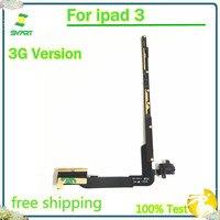 3g 버전 볼륨 헤드폰 오디오 헤드셋 잭 (pcb 보드 포함) ipad 3 용 플렉스 케이블