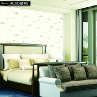 Milan New Fashion Home Decor Wallpaper Roll Non Woven Chinese Style Ink Painting Landscape Wall Paper