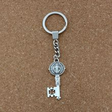 20pcs Keychain Saint Benedict Medal Cross Smqlivb Key Charms Pendant Travel Protection DIY Jewelry A-173f