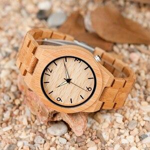 Image 5 - BOBO BIRD reloj de madera para hombre, reloj masculino, de marca superior, de madera, gran regalo, W D27