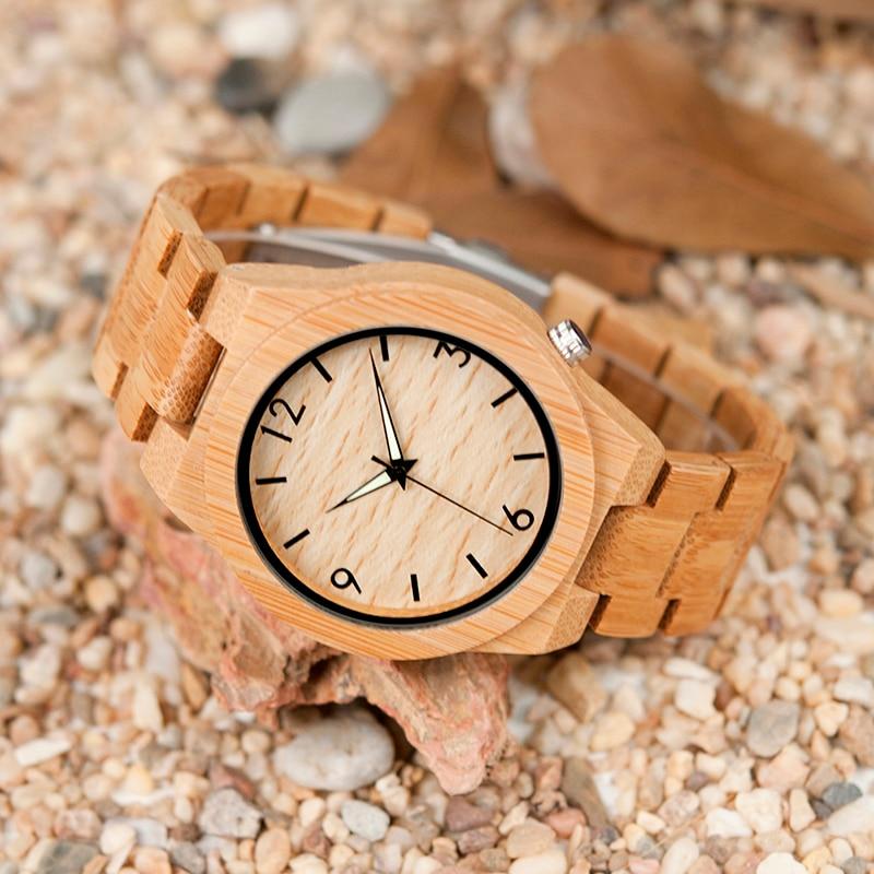 relogio masculino BOBO BIRD Wood Watch მამაკაცები - მამაკაცის საათები - ფოტო 5
