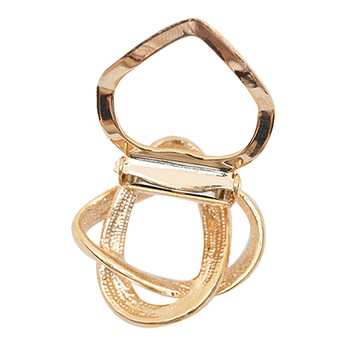 Gold Plated Crystal Silk Scarf Clip Buckle Holder Brooch