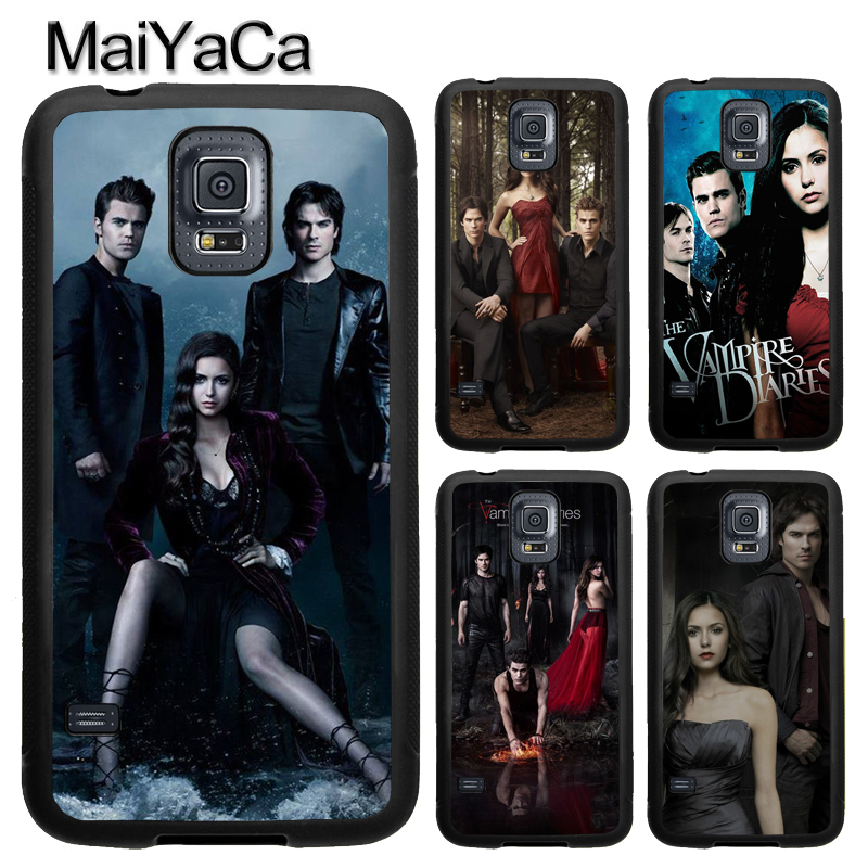 MaiYaCa THE VAMPIRE DIARIES TV Show Poster Case For Samsung Calaxy S5 S6 S7 Edge Note 8 5 TPU Case For Samsung S8 S9 Plus Cover
