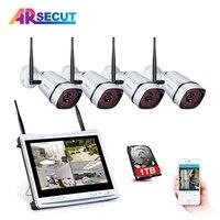 ARSECUT 2.0MP WIFI IP Camera 4CH 12 Inch 1080PHD NVR Kit CCTV Wireless Security System IR NightVision Outdoor Surveillance Kit