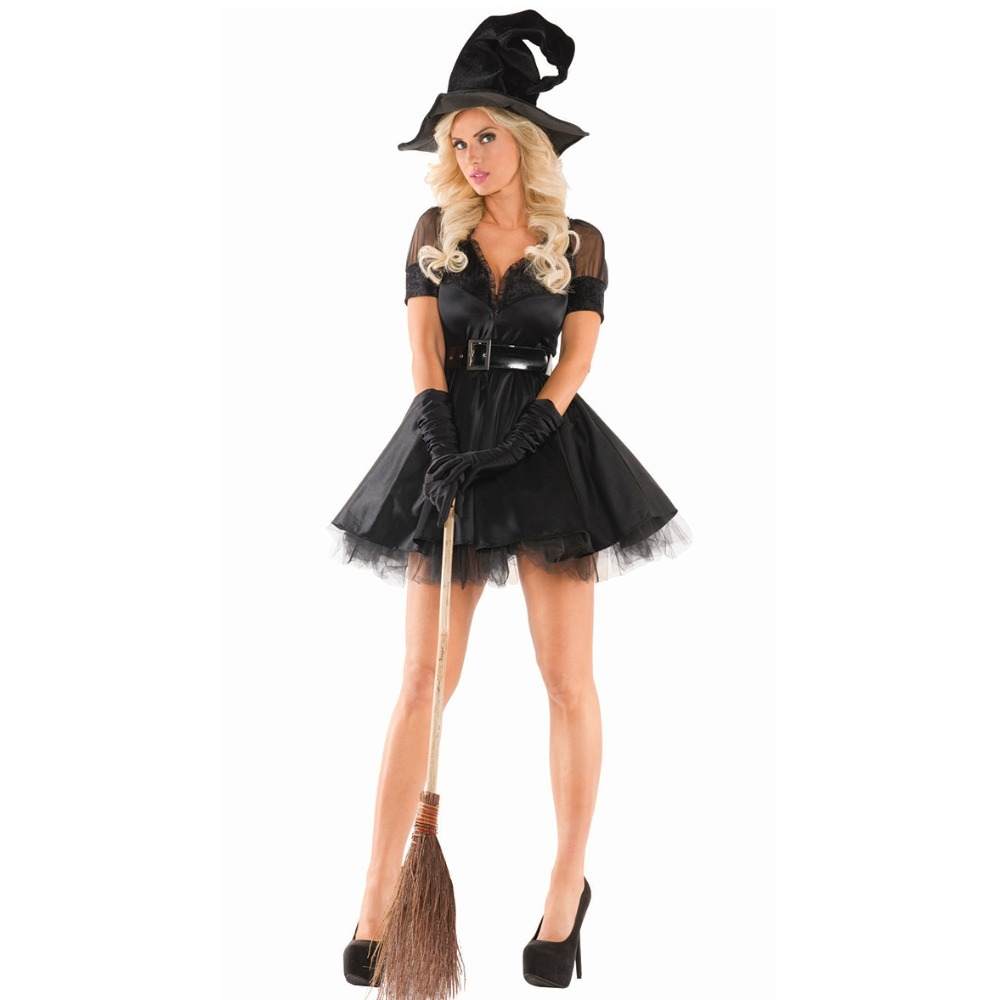 UTMEON New Sexy Black Party Dress Halloween Women Black Sleeping Beauty Witch Queen Costumes Carnival Party Cosplay Fancy Dress