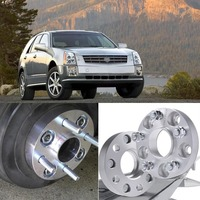 Teeze 4pcs 6X115 70.3CB 25mm Thick Hubcenteric Wheel Spacer Adapters For Cadillac SRX 2004 2009