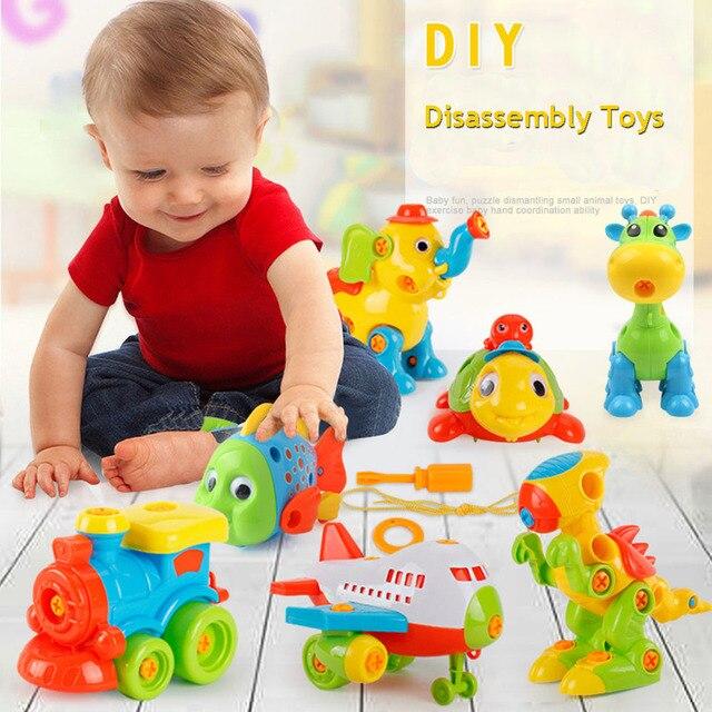 DIY разборка сборки игрушки для детей автомобиль/вертолет/мотоцикл кубики для обучения игрушки с сборкой Отвертка гаечный ключ