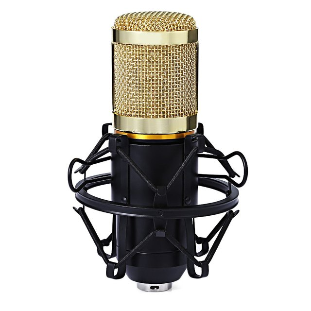 Portable Professional Studio Condenser Sound Recording Microphone with Metal Shock Mount Kit for Recording