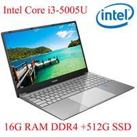 עם התאורה האחורית ips P3-09 16G RAM 512G SSD I3-5005U מחברת מחשב נייד Ultrabook עם התאורה האחורית IPS WIN10 מקלדת ושפת OS זמינה עבור לבחור (1)