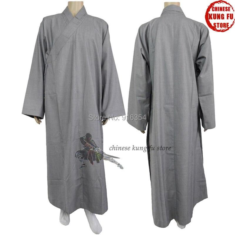 Высочайшее Качество Толщиной 100% Хлопок Осень Зима Шаолинь Буддийский одеяние Lay Монах Платье Медитация Костюм