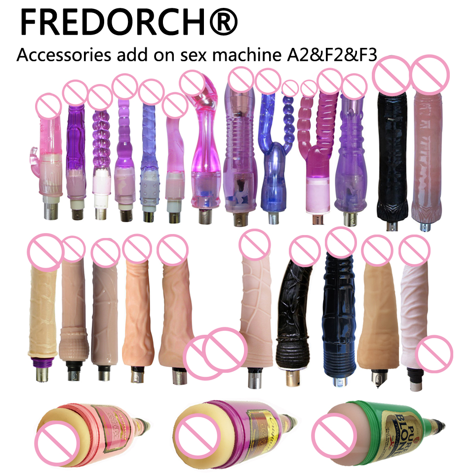 FREDORCH Lot Types Traditional Sex Machine A2 / F2 Attachment 3XLR Attachment Dildo Suction Cup Sex Love Machine For Women Man