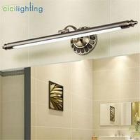 2019 New L50cm 70cm 90cm Modern LED Mirror Lights bronze wall lamp Bathroom longer wall sconce lampe deco vintage vanity lamp