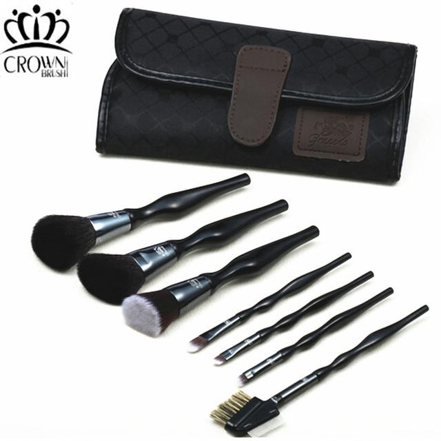 Горячая 7 шт. шерсть кисти для макияжа инструмент. makeup brush set кривой. человека эстетики