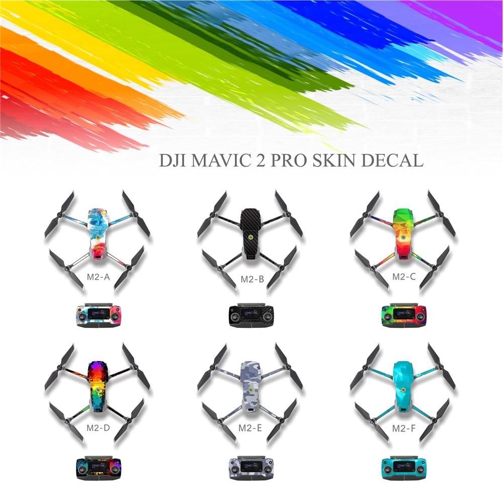 PVC Waterproof Skin Decal Sticker For DJI MAVIC 2 Pro Remote Control Drone Body Resistant Stickers Cover Wrap Guard Accessories