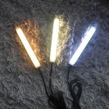 цена на 1pcs LED Light Bar USB Portable Book Light 9SMD/18SMD 2835 5V Natural Warm / White Light Bar Desk Reading Lighting Trunk Lamp