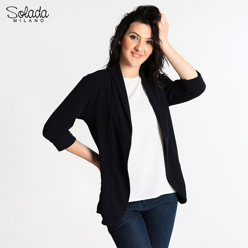 Solada Open Jacket With Pockets