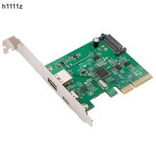 H1111z pci express usb3.1 USB C + usb3.1 type a 호스트 컨트롤러 카드 최대 usb3.1 gen ii 10 gbps 만찬 속도 + asm3142 칩셋