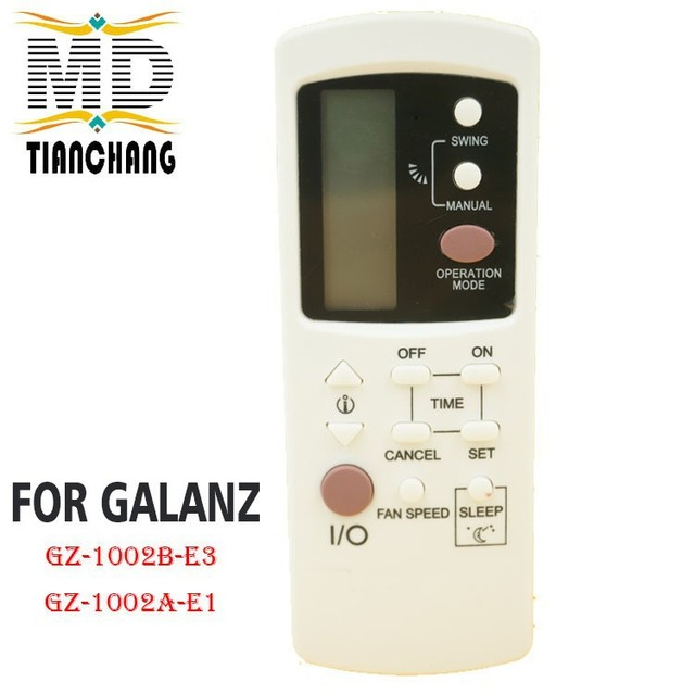New GZ 1002B E3 For Galanz Air Conditioner Remote Control GZ1002BE3 GZ 1002B E1 Compatible with GZ 1002A E1 GZ1002BE1 Controle