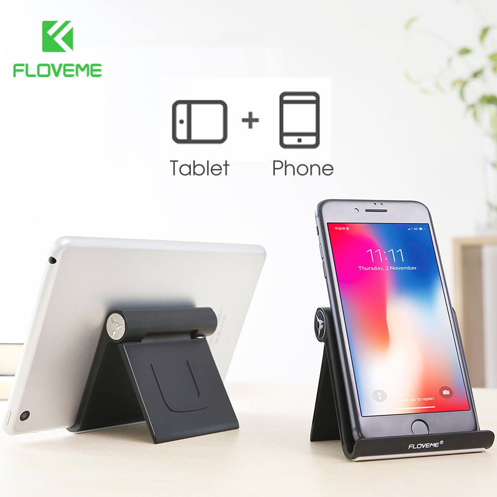 FLOVEME Universal Phone Holder For Xiaomi Redmi 4X Folding Phone Support Tablet Holder For iPad air 1 2 Stand Phone Accessories