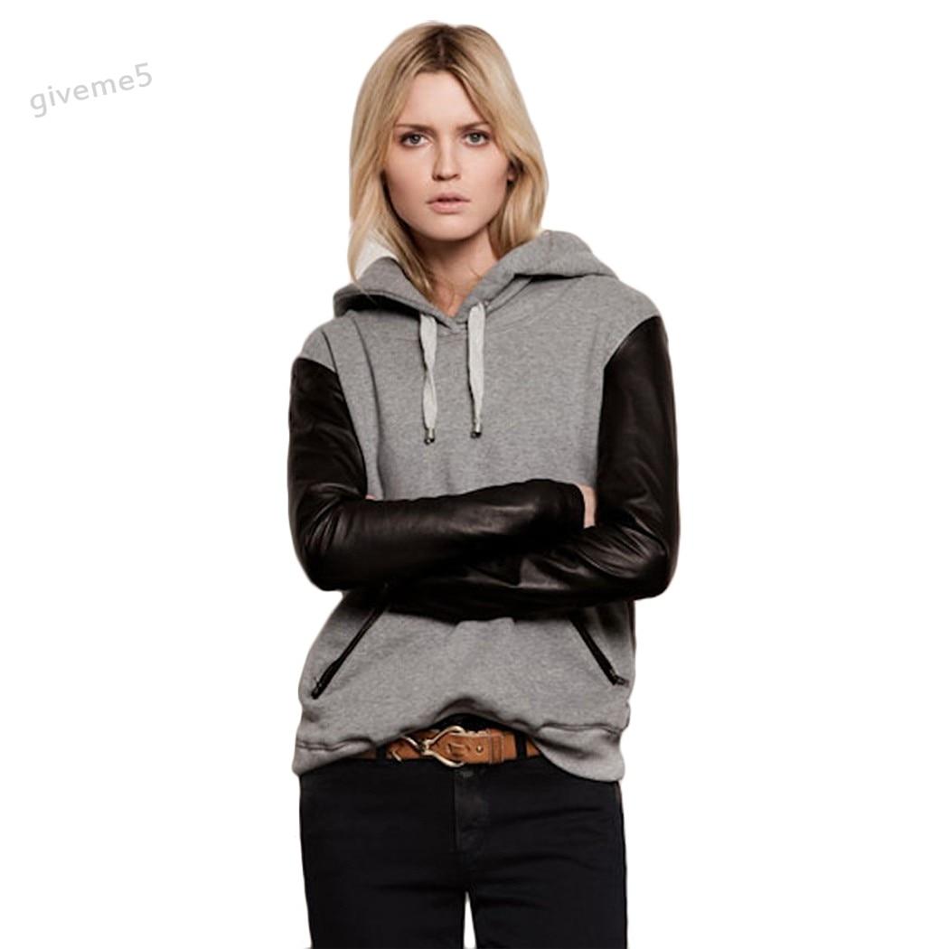 8ba518d66 Fashion Sudaderas Mujer S-2XL 2017 Women Hoodies Autumn Winter Pullover  Sportwear Patchwork Women Sweatshirt