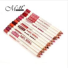 M.n Menow Brand 12Colors/Set Waterproof Lip Liner Pencil Women's Professional Long Lasting Lipliner Lips Makeup Tools 1416/B