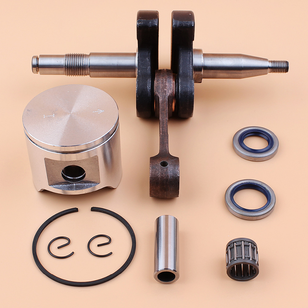 Crankshaft w/ 48mm Piston Oil Seal Needle Bearing Kit For HUSQVARNA 365 Chainsaw Engine Parts цена
