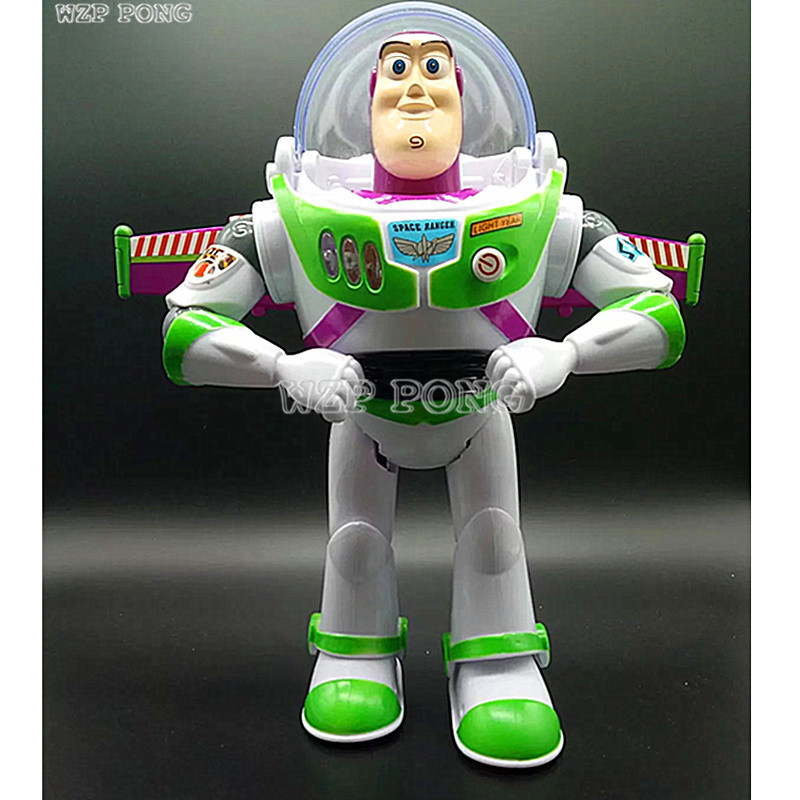 Toy Story 5 Anime Buzz Lightyear Figure Toys Lights Voices Speak English Joint Movable with Wings Action Figures Children Gift toy story juniors costume tunic tank dress buzz lightyear costume fancy dress toy story jessie costume buzz lightyear costume