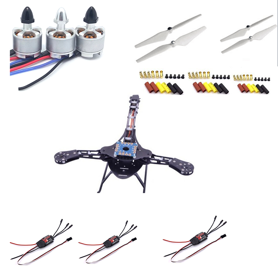 HJ Y3 Glass Fiber Quadcopter MultiCopter Frame kit CC3D 2212 Motor 30A hobbywing ESC free shipping