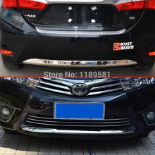 For Toyota Corolla 2014 2015 2016 ABS Chrome Front And Rear Bumper Cover Trim