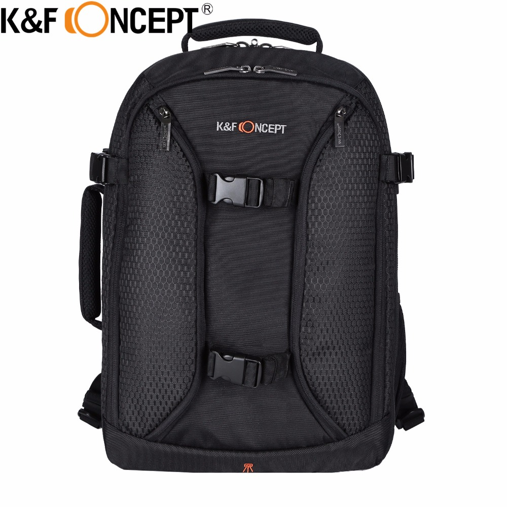 K&F CONCEPT Professional Camera Backpack Large Capacity DLSR Camera Photo Video Bag Tripod Holder and Rain Holder Shockproof newdawn nd818a large capacity photography bag professional dslr camera backpack
