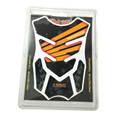 Orange Carbon Fiber Tank Pad Tankpad Protector Sticker Universal For Honda Motorcycle Styling Sticker Accessories Decal