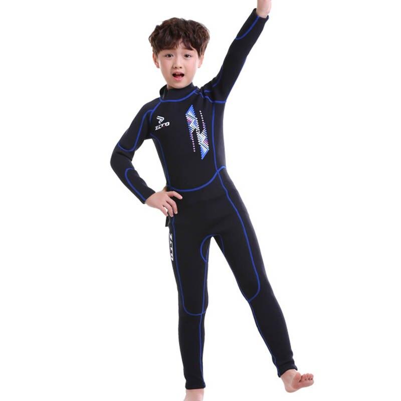 """Детские гидрокостюмы для мальчиков и девочек с надписью """"УФ-защита молния сзади Молодежный костюм для дайвинга из неопрена купальный костюм ASD88"""