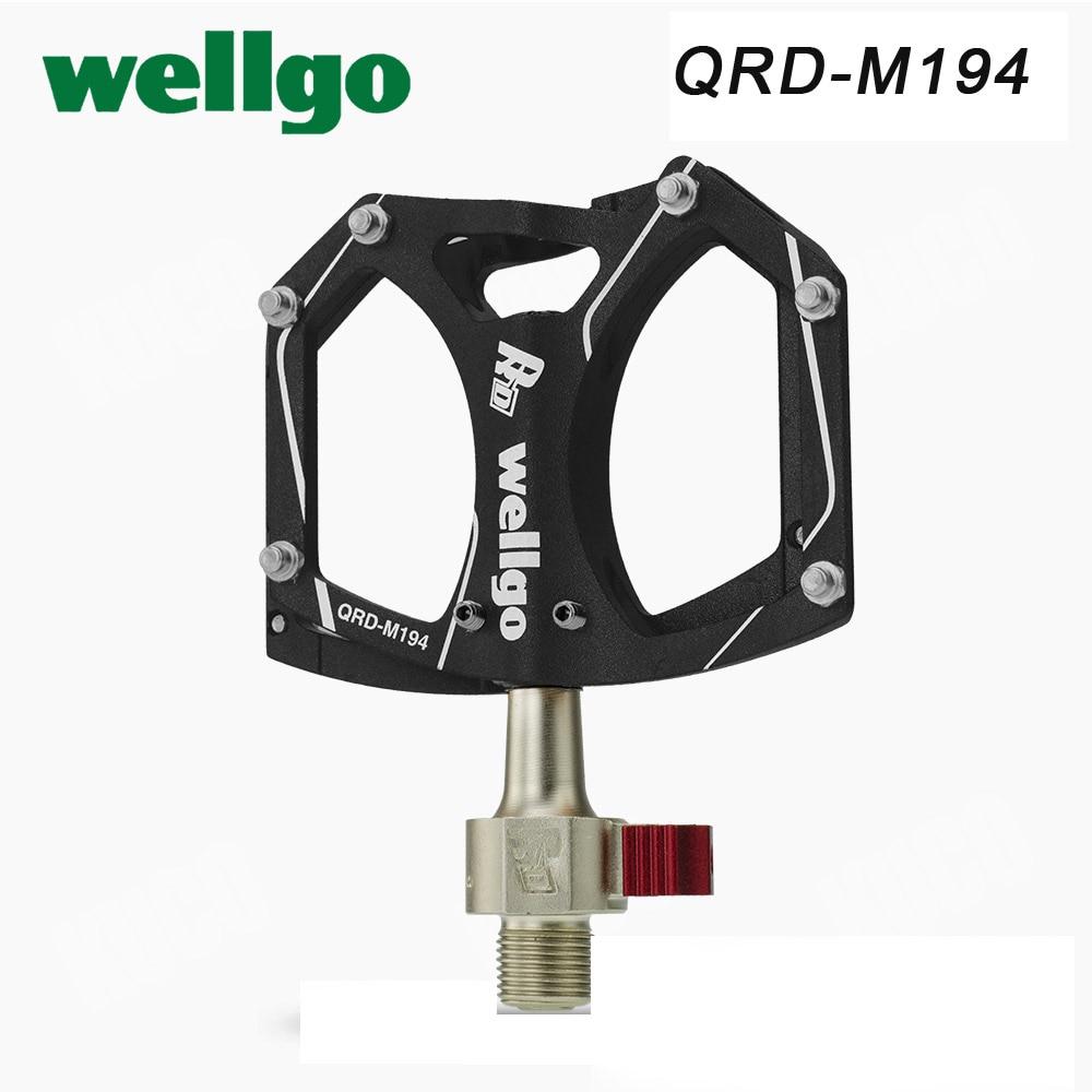 Wellgo QRD-M194 Libération Rapide pédales de vélo Vélo De Route pédale ultralégère VTT Vélo Verrouillé-Sur Portant Pédales