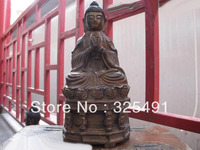 Китайский буддизм храм Бронза Gild Шакьямуни татхагата фигурка Будды статуя Z