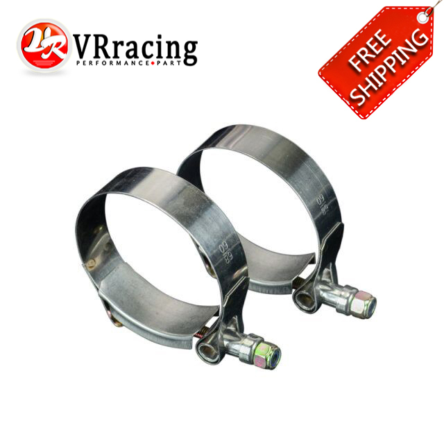 FREE SHIPPING (2PCS/LOT) 2.25(60-68) CLAMPS STAINLESS SILICONE TURBO HOSE COUPLER T BOLT CLAMP KIT HIGH QUALITY SS304