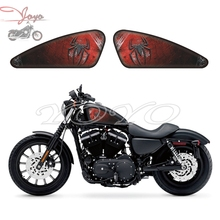 Spider Logo Graphics Fuel Tank Decals Stickers For Harley Sportster XL 883 1200 X/V/R/N/L/C XR1200 Iron Forty Eight Seventy Two tank cover panel pad bib bra w pouch for harley sportster forty eight 883 1200 forty eight iron 883 seventy two