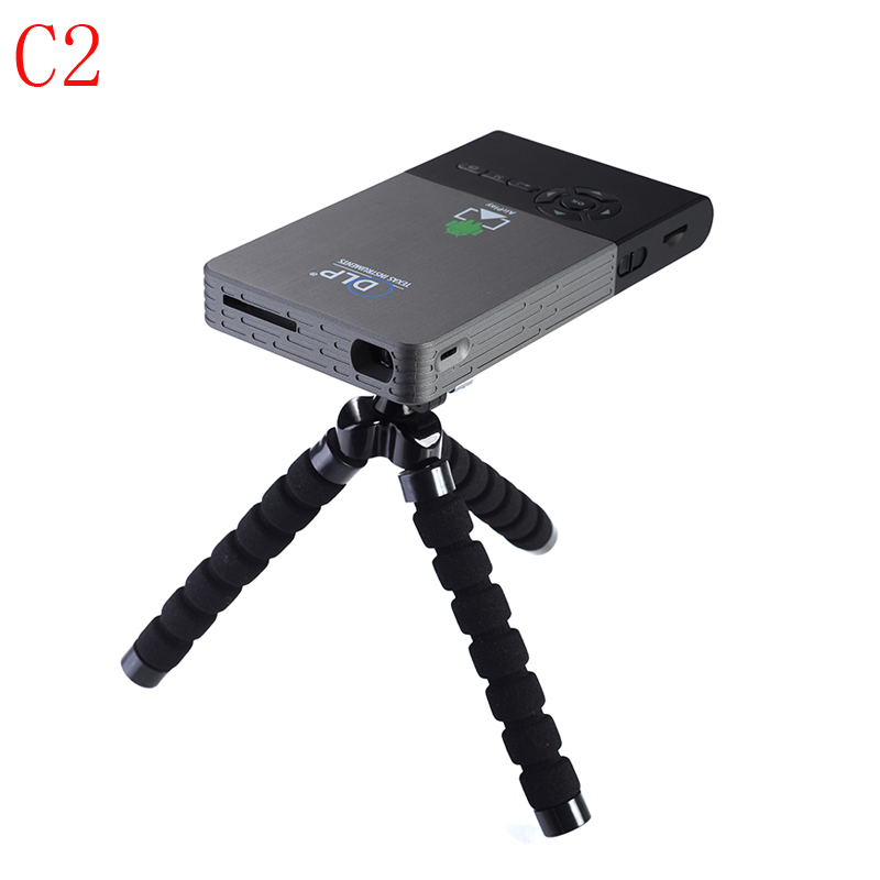C2 Mini Projector Led Full HD1080p Home Theater Beamer Android WiFi Bluetooth Smart DLP Projector for School Business Proyector 2016 best quality portable mini cheap video full hd 3d led dlp laser projector with low cost best for home school